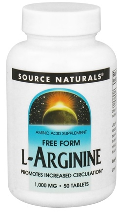 DROPPED: Source Naturals - L-Arginine Free Form 1000 mg. - 50 Tablets