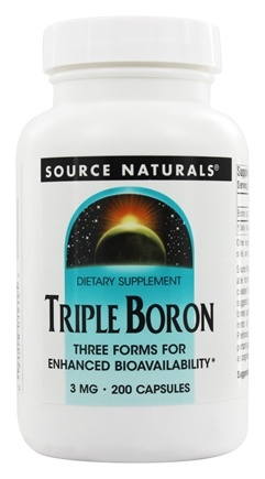 Source Naturals - Triple Boron 3 mg. - 200 Capsules