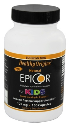 DROPPED: Healthy Origins - EpiCor High-Metabolite Immunogens For Kids 125 mg. - 150 Capsules
