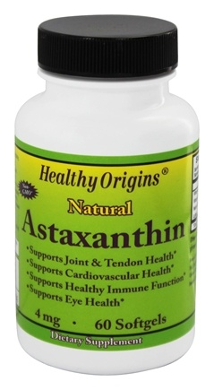 DROPPED: Healthy Origins - Astaxanthin 4 mg. - 60 Softgels