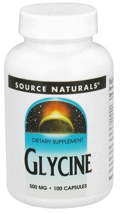 DROPPED: Source Naturals - Glycine 500 mg. - 100 Capsules