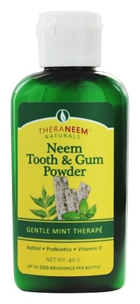 Organix South - TheraNeem Naturals Neem Tooth & Gum Powder Gentle Mint Therape - 40 Gram(s)