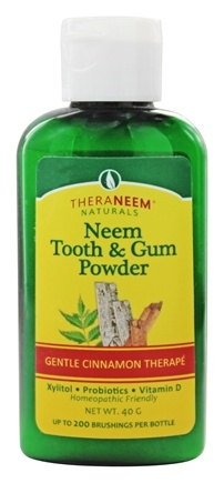 Organix South - TheraNeem Naturals Neem Tooth & Gum Powder Gentle Cinnamon Therape - 40 Gram(s)