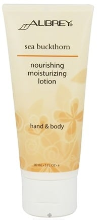 DROPPED: Aubrey Organics - Hand & Body Moisturizing Lotion Nourishing Sea Buckthorn - 3 oz. CLEARANCE PRICED