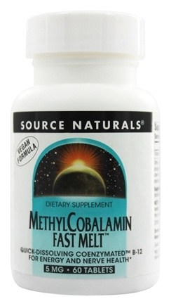 Source Naturals - MethylCobalamin Fast Melt 5 mg. - 60 Tablets