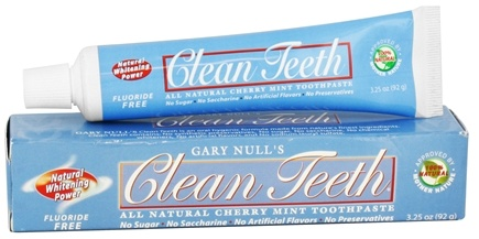 DROPPED: Gary Null's - Clean Teeth All Natural Tooth Paste Cherry Mint - 3.25 oz.