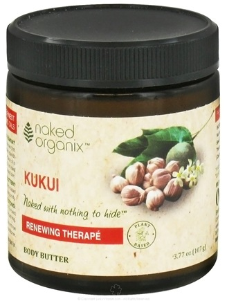 DROPPED: Organix South - Naked Organix Kukui Body Butter Fragrance Free - 3.77 oz. CLEARANCE PRICED