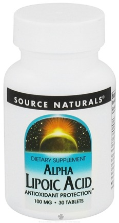 DROPPED: Source Naturals - Alpha Lipoic Acid 100 mg. - 30 Tablets CLEARANCE PRICED