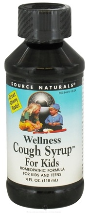 DROPPED: Source Naturals - Wellness Cough Syrup For Kids - 4 oz. CLEARANCE PRICED