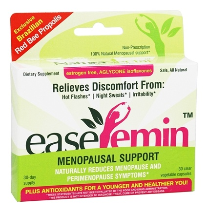 DROPPED: NaturaNectar - EaseFemin Menopausal Support - 30 Vegetarian Capsules CLEARANCE PRICED