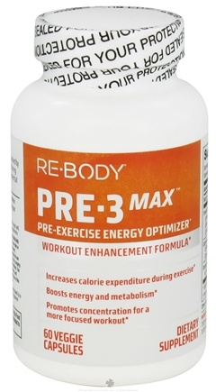 DROPPED: ReBody - PRE-3 Max Pre-Exercise Energy Optimizer - 60 Vegetarian Capsules