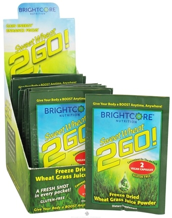 DROPPED: Brightcore Nutrition - Sweet Wheat 2GO! Wheat Grass Juice Powder - 15 Packet(s)