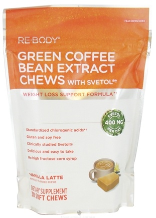DROPPED: ReBody - Green Coffee Bean Extract Chews with Svetol Vanilla Latte - 30 Soft Chews