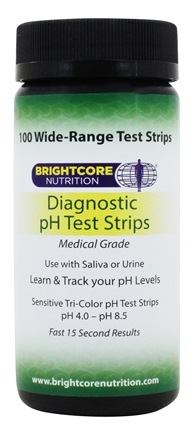 Brightcore Nutrition - Wide Range pH Test Strips - 80 Strip(s)