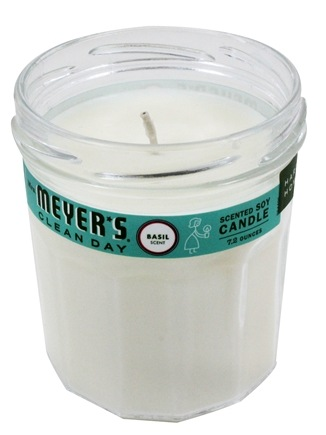 Mrs. Meyer's - Clean Day Scented Soy Candle Basil - 7.2 oz.