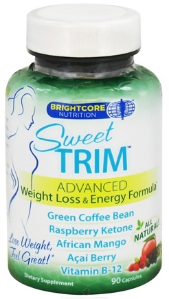 DROPPED: Brightcore Nutrition - Sweet Trim Weight Loss & Energy Formula - 90 Capsules CLEARANCE PRICED