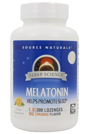 Source Naturals - Melatonin Sublingual Orange Flavored 1 mg. - 300 Tablets