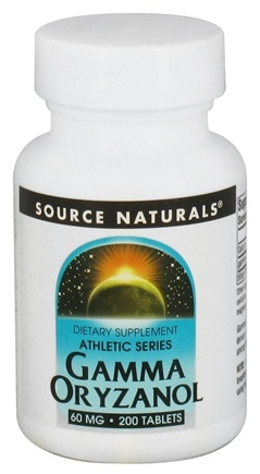 DROPPED: Source Naturals - Athletic Series Gamma Oryzanol 60 mg. - 200 Tablets CLEARANCE PRICED