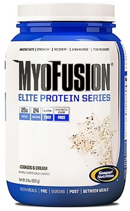 DROPPED: Gaspari Nutrition - MyoFusion Elite Protein Series Cookies & Cream - 2 lbs.
