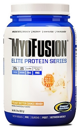 DROPPED: Gaspari Nutrition - MyoFusion Elite Protein Series Peanut Butter Cookie Dough - 2 lbs. CLEARANCE PRICED