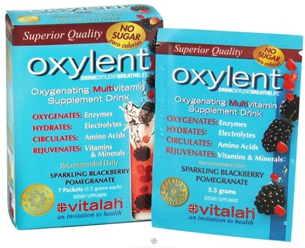 DROPPED: Oxylent - Oxygenating Multivitamin Drink Sparkling Blackberry Pomegranate - 7 Packet(s) CLEARANCE PRICED