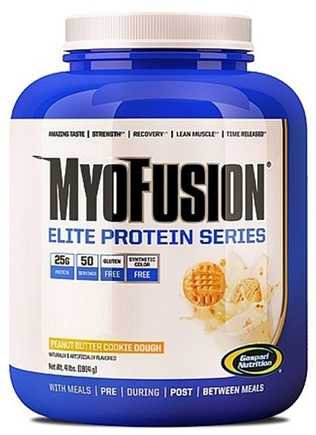 DROPPED: Gaspari Nutrition - MyoFusion Elite Protein Series Peanut Butter Cookie Dough - 4 lbs.