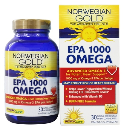 ReNew Life - Norwegian Gold Omega EPA 1000 mg. - 30 Softgels