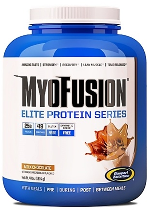 DROPPED: Gaspari Nutrition - MyoFusion Elite Protein Series Milk Chocolate - 4 lbs.