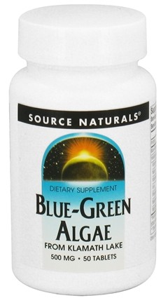 DROPPED: Source Naturals - Blue-Green Algae 500 mg. - 50 Tablets CLEARANCE PRICED