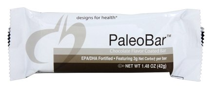 Designs For Health - PaleoBar Chocolate Flavor Coated Bar - 1.48 oz.