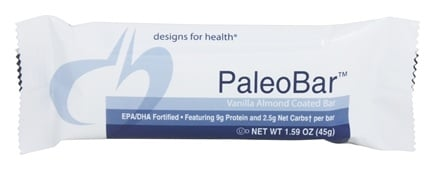 Designs For Health - PaleoBar Vanilla Almond Coated Bar - 1.59 oz.