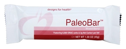 DROPPED: Designs For Health - PaleoBar Mixed Berry Bar - 1.59 oz.