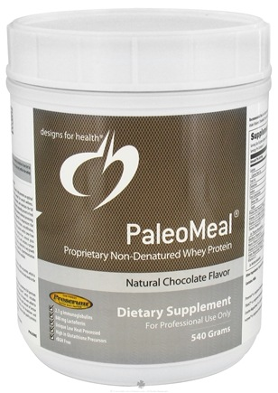 DROPPED: Designs For Health - PaleoMeal Natural Chocolate Flavor - 540 Grams CLEARANCE PRICED