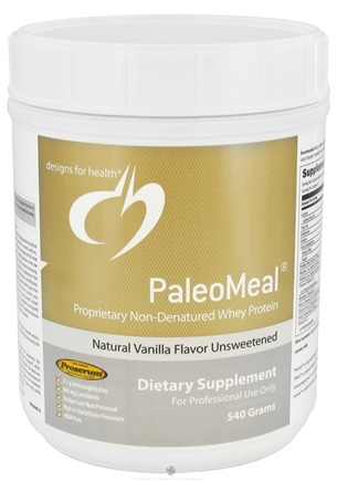 DROPPED: Designs For Health - PaleoMeal Unsweetened Natural Vanilla Flavor - 540 Grams CLEARANCE PRICED