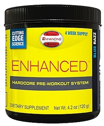 DROPPED: PES: Physique Enhancing Science - Enhanced Hardcore Pre-Workout System Blue Razz - 4-Week Supply - 4.2 oz.