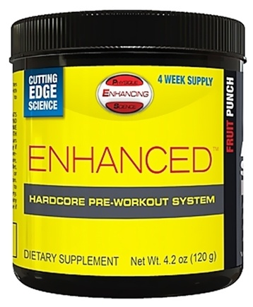 DROPPED: PES: Physique Enhancing Science - Enhanced Hardcore Pre-Workout System Fruit Punch - 4-Week Supply - 4.2 oz.