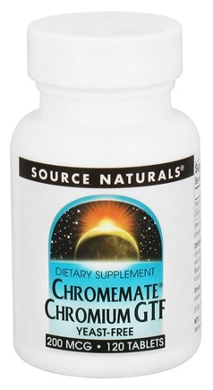 DROPPED: Source Naturals - ChromeMate Chromium GTF Yeast-Free 200 mcg. - 120 Tablets CLEARANCE PRICED