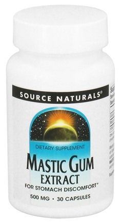 DROPPED: Source Naturals - Mastic Gum Extract 500 mg. - 30 Capsules CLEARANCE PRICED