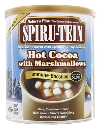 Nature's Plus - Spiru-Tein Hot Cocoa Powder with Marshmallows - 12.3 oz.