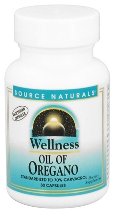 DROPPED: Source Naturals - Wellness Oil of Oregano - 30 Vegetarian Capsules CLEARANCE PRICED