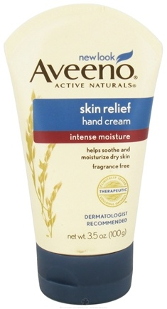 DROPPED: Aveeno - Active Naturals Skin Relief Hand Cream Intense Moisture Fragrance Free - 3.5 oz.