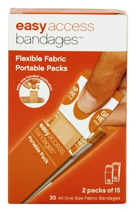 DROPPED: After Bite - Easy Access Bandages Portable Packs Flexible Fabric - 30 Bandage(s)