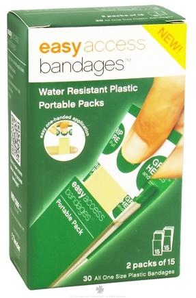 DROPPED: After Bite - Easy Access Bandages Portable Packs Water Resistant Plastic - 30 Bandage(s) CLEARANCE PRICED