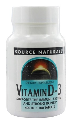 Source Naturals - Vitamin D-3 400 IU - 100 Tablets