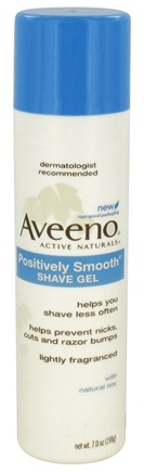 DROPPED: Aveeno - Active Naturals Positively Smooth Shave Gel with Natural Soy - 7 oz. CLEARANCE PRICED