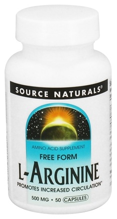 DROPPED: Source Naturals - L-Arginine Free Form 500 mg. - 50 Capsules