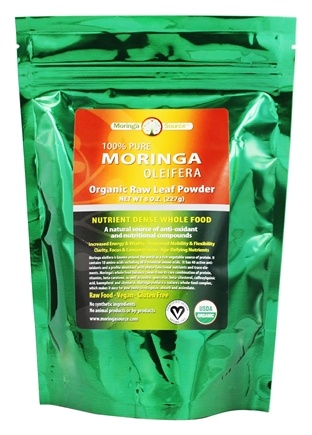 Moringa Source - Moringa Oleifera Raw Leaf Powder - 8 oz.