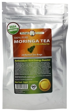 DROPPED: Moringa Source - Moringa Oleifera Herbal Tea - 24 Tea Bags