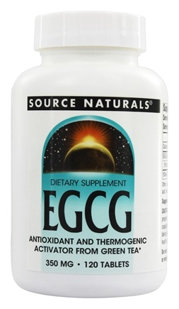 DROPPED: Source Naturals - EGCG 350 mg. - 120 Tablets