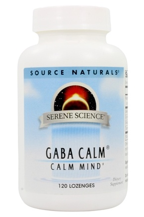 Source Naturals - GABA Calm Sublingual Peppermint Flavored - 120 Tablets